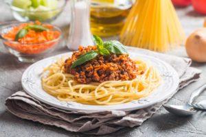 Spaghetti Bolognese made Fresh